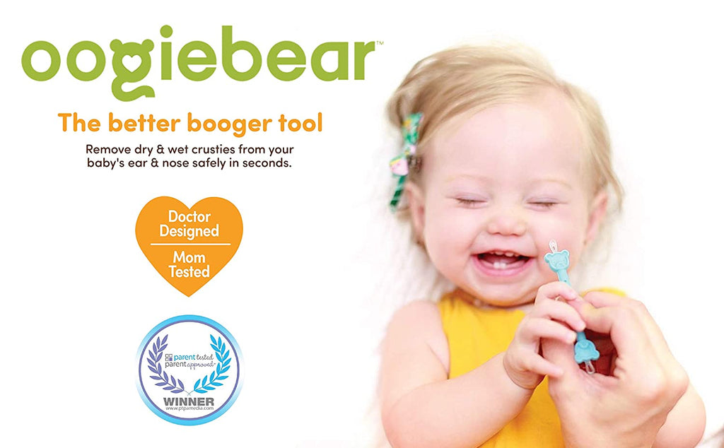 oogiebear® baby booger picker (2-pack, orange & seafoam)