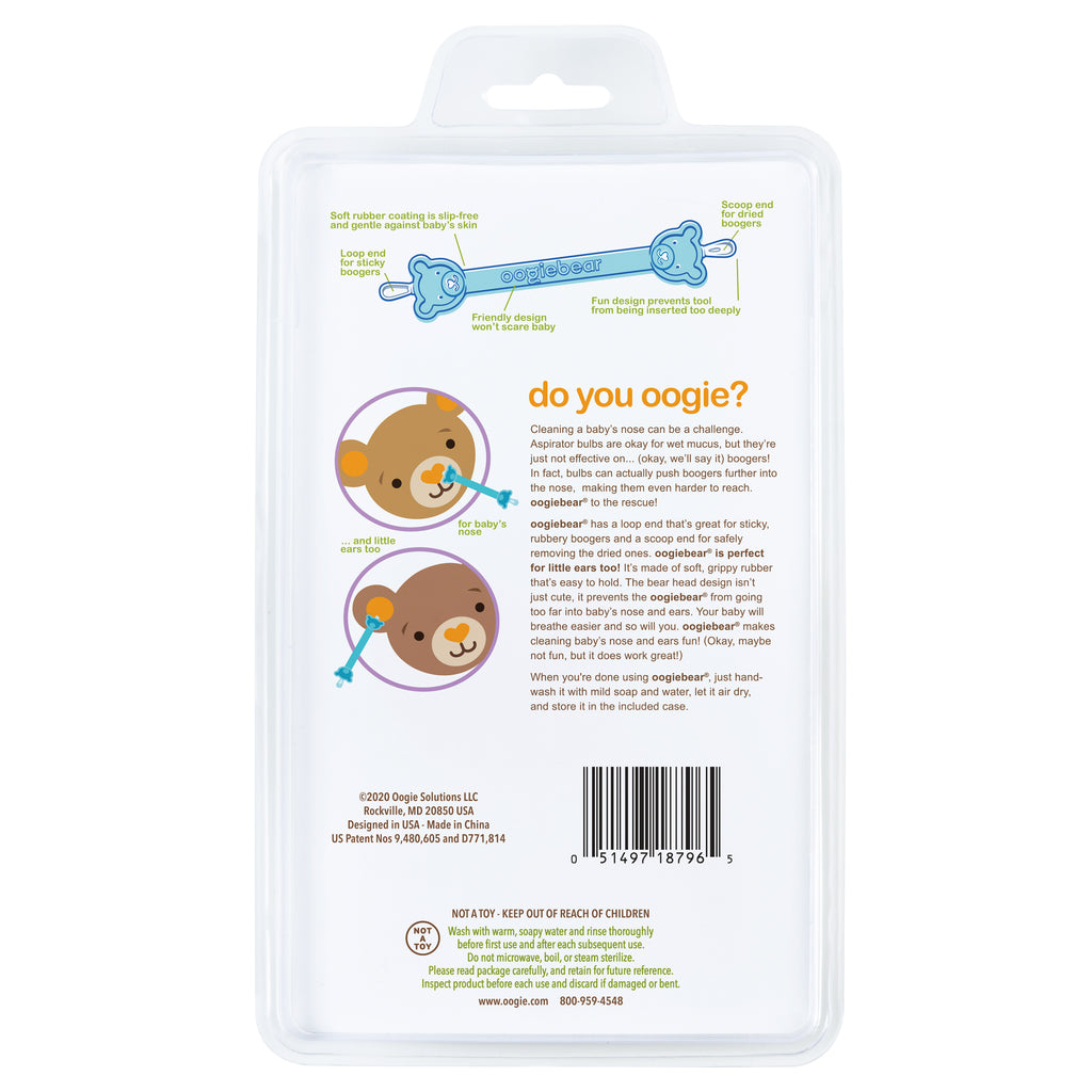 oogiebear® baby booger picker with case (2-pack, orange & seafoam)