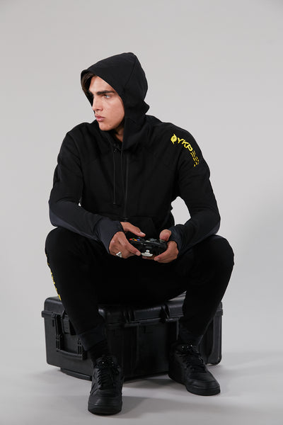 VISION HOODY MAN YOKOIPRO - ZERO DISTRACTION BLACK / VIBRANT YELLOW