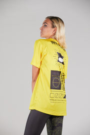 CORE TEE MAN YOKOIPRO - HYPE FIT. LOOKING GREAT VIBRANT YELLOW