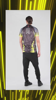 SUBLIME TEE MAN YOKOIPRO - ARMOUR FIT. DOMINATE THE GAME BLACK / VIBRANT YELLOW