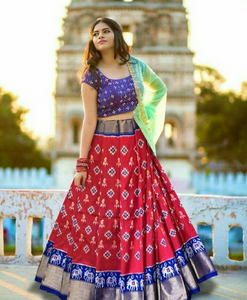 RED ADORING LEHNGA CHOLI WITH DUPATTA  - LC_BP_112