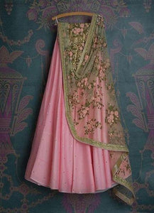 PINK ELEGENT LEHENGA CHOLI WITH DUPATTA  - LC_BP_163