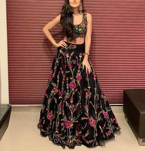 BLACK DASHING LEHENGA CHOLI -LC_SF_157