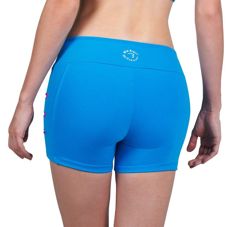 Bia Brazil Activewear Sliced up Shorts SH2451 Turquoise/Fuschia