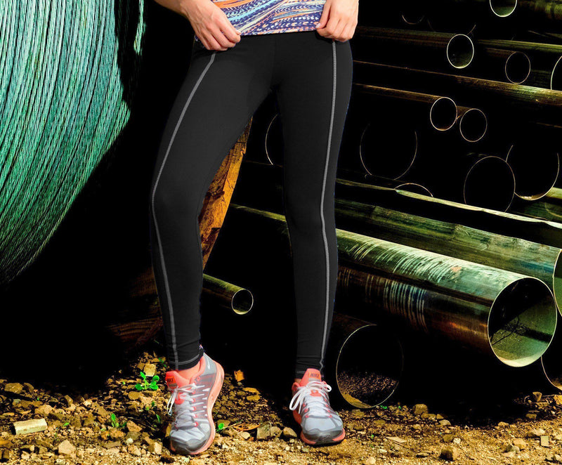 Final Sale! Bia Brazil Activewear Zip Ankle Stand Out Legging LE2833 Black