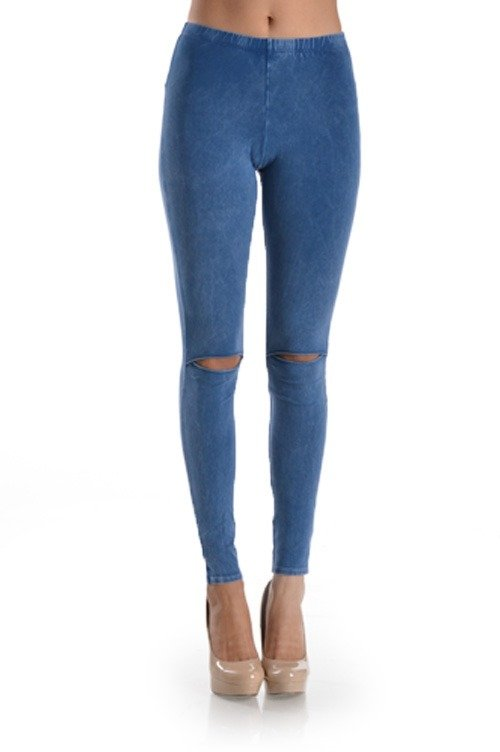 T-Party Knee Cut Out Legging CJ72551Denim