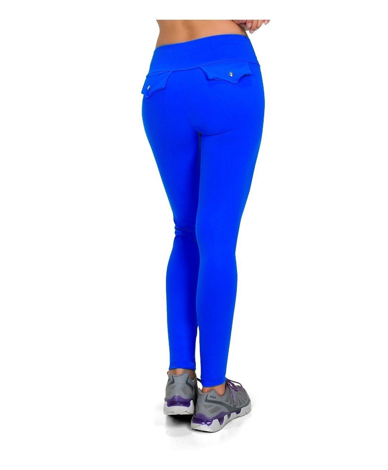 Bia Brazil Activewear Faux Pocket Legging LE326 Royal