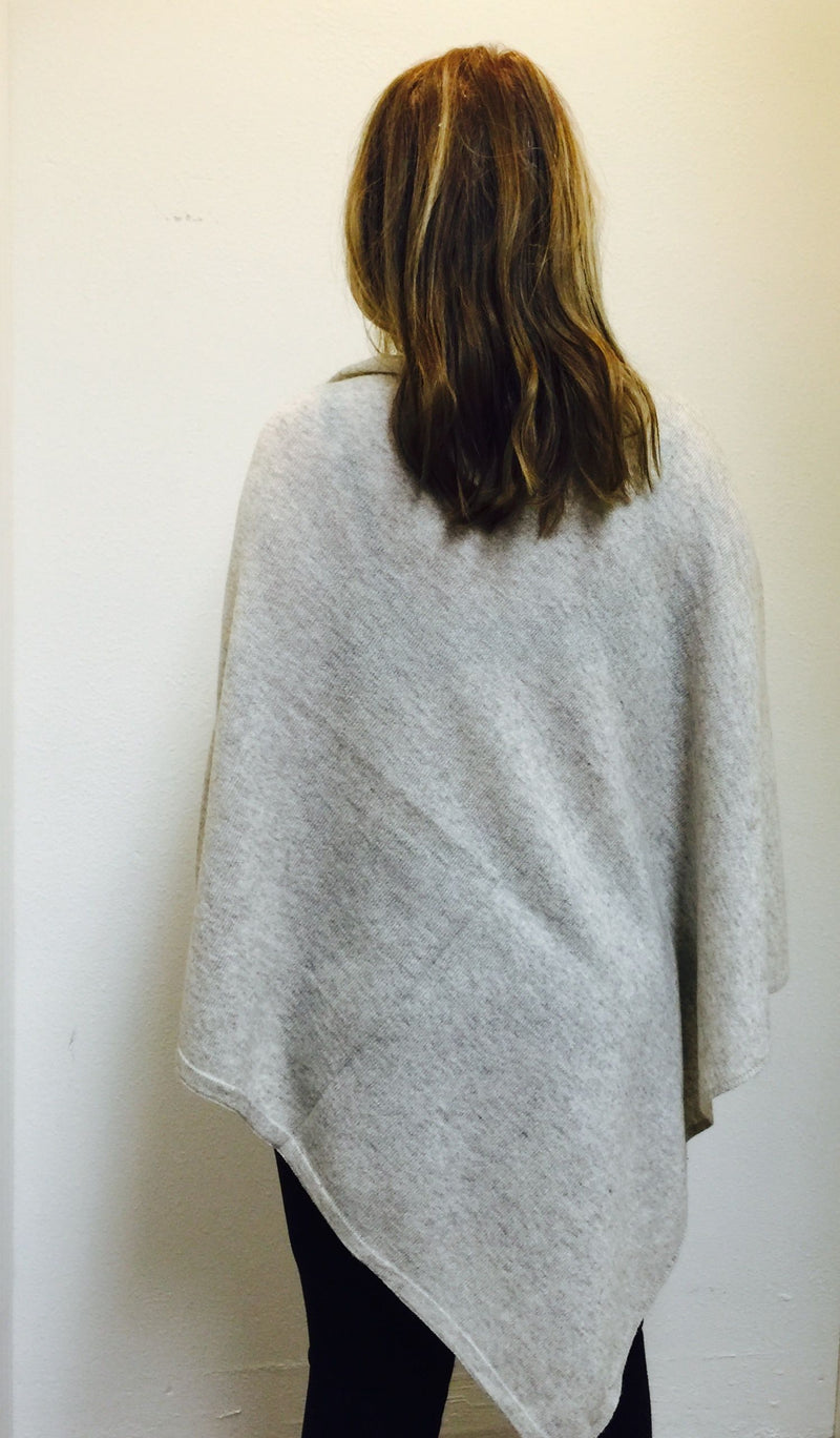 FINAL SALE Cashmere Poncho from Nepal  Tan