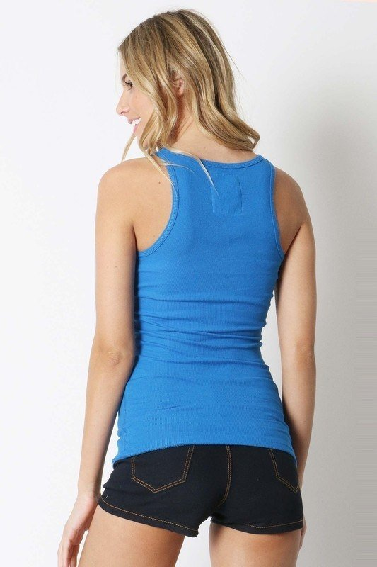 Zenana Stretch Rib Knit Tank T1160