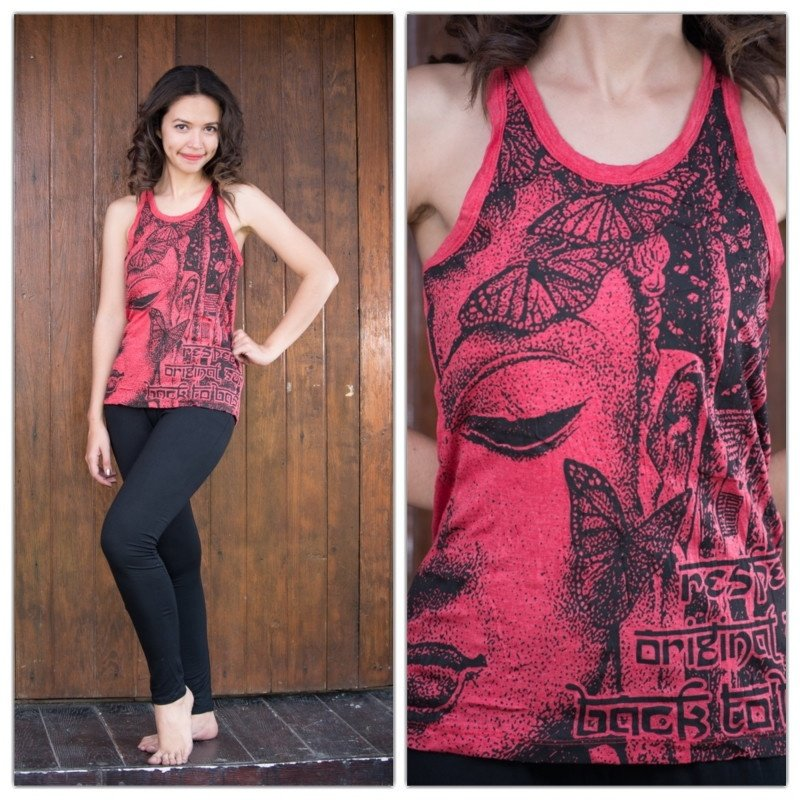 Final Sale Butterfly Buddha Sure Graphic Tank 100