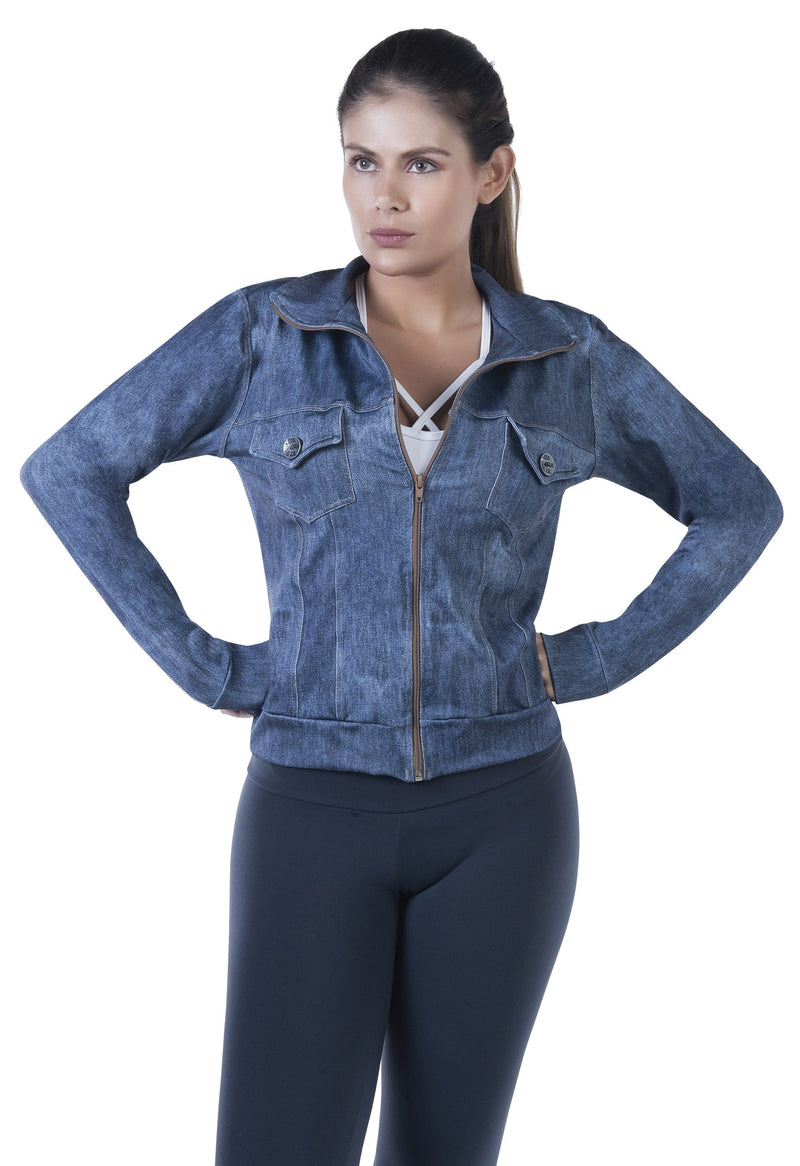 Bia Brazil Activewear Jean Jacket JA2561 Denim