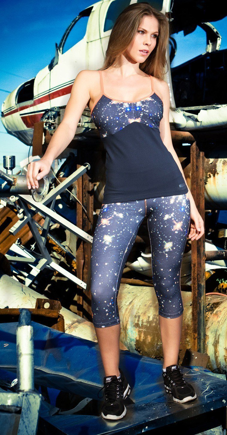 Final Sale! Bia Brazil Activewear Galaxy Topstitched Capri SL3105
