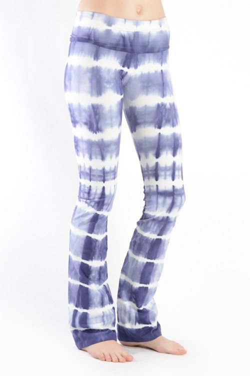 T-Party Foldover Tie Dye Yoga Pants CJ72853