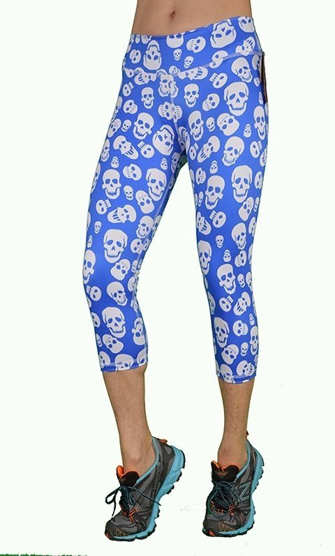 FINAL SALE! Blue Skulls Capri By Shape Up Activewear