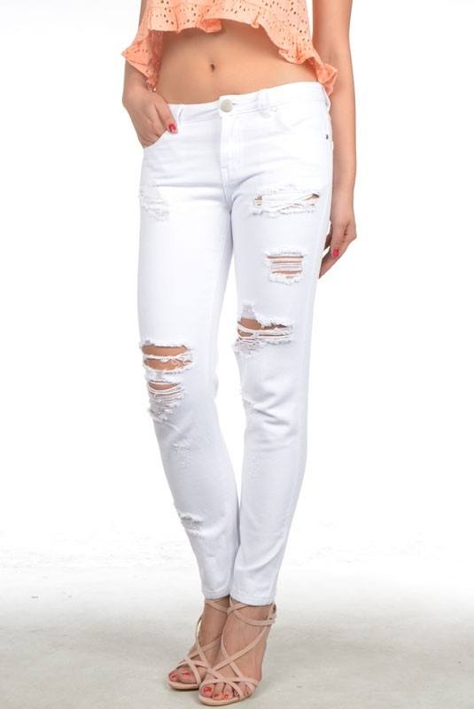 Final Sale Signature 8 Relaxed Fit White Jeans IP629W