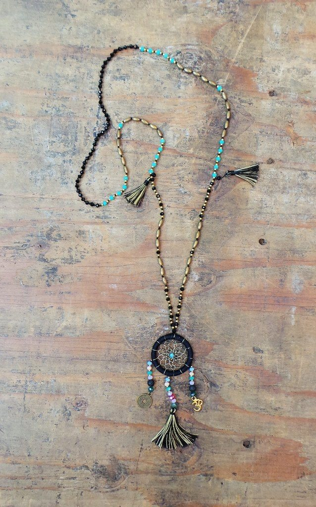Dream Catcher Necklace with Tassels