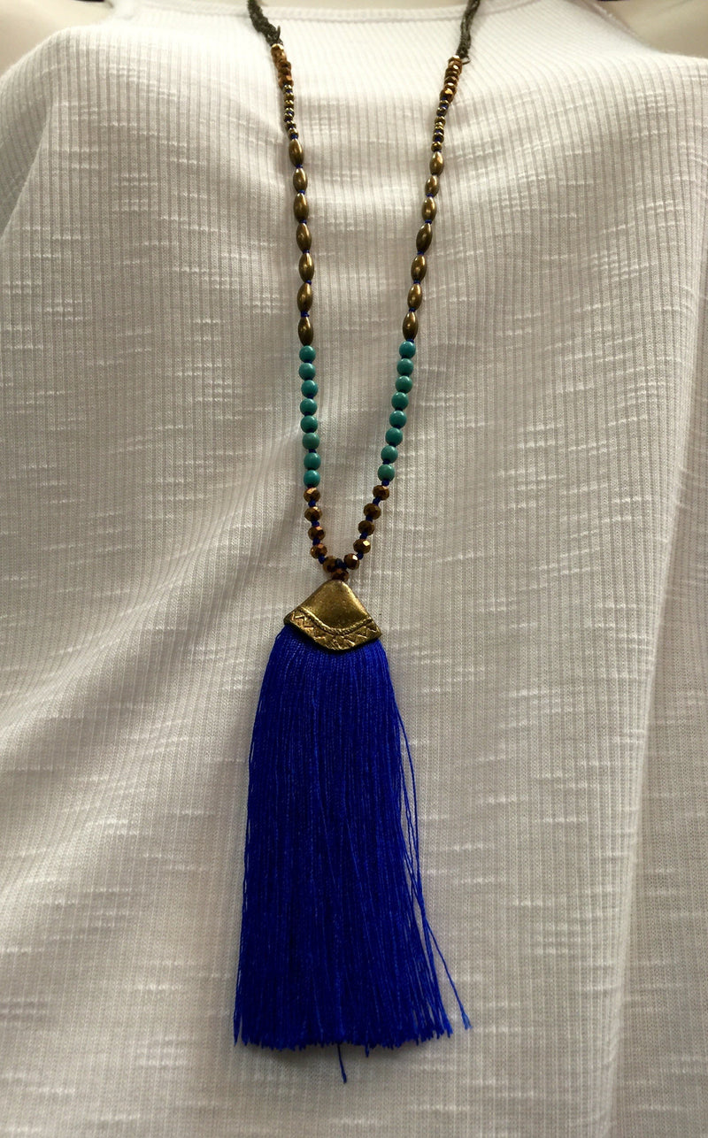 Tribal Necklace with Tassels
