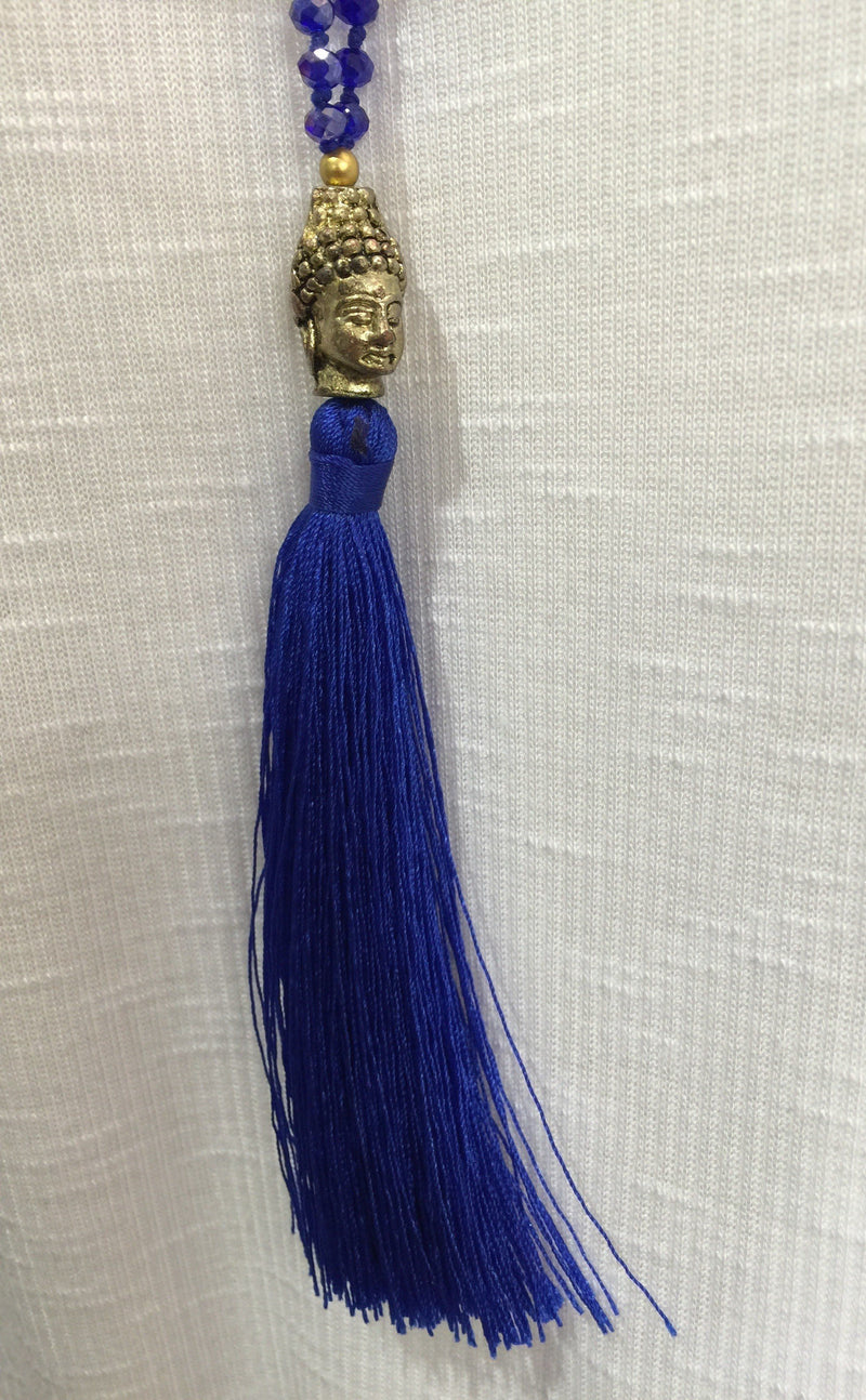 Buddha Tassel Crystal Necklace