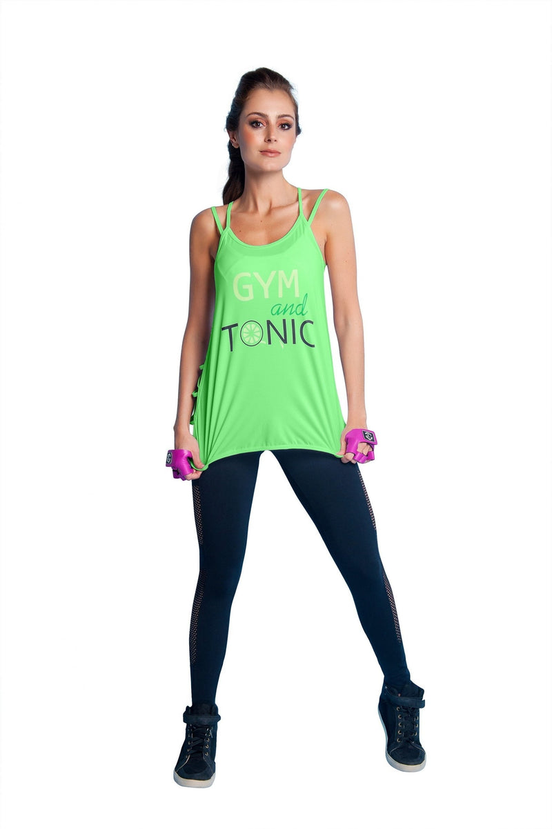 Bia Brazil Activewear Gym And Tonic Tank TT4479 Lime