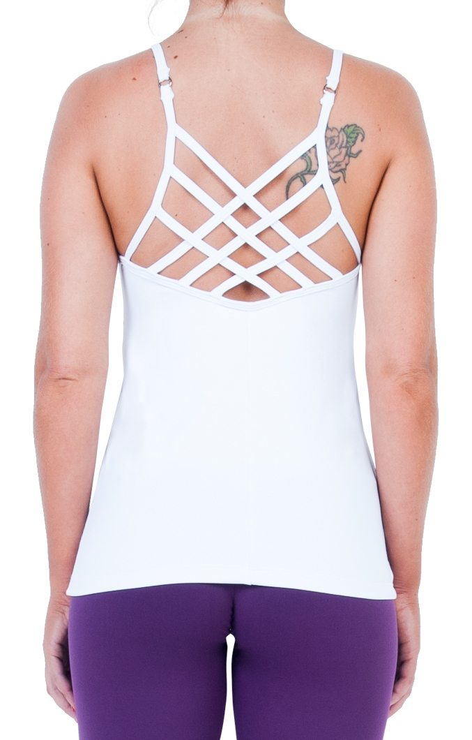 Bia Brazil Activewear Padded Criss Cross Camisole TT2939S White