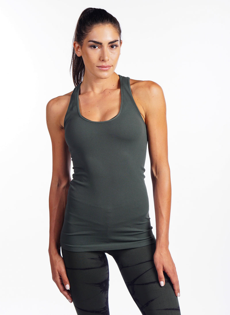 Final Sale! NUX Freedom T-Back Tank T886  Olive