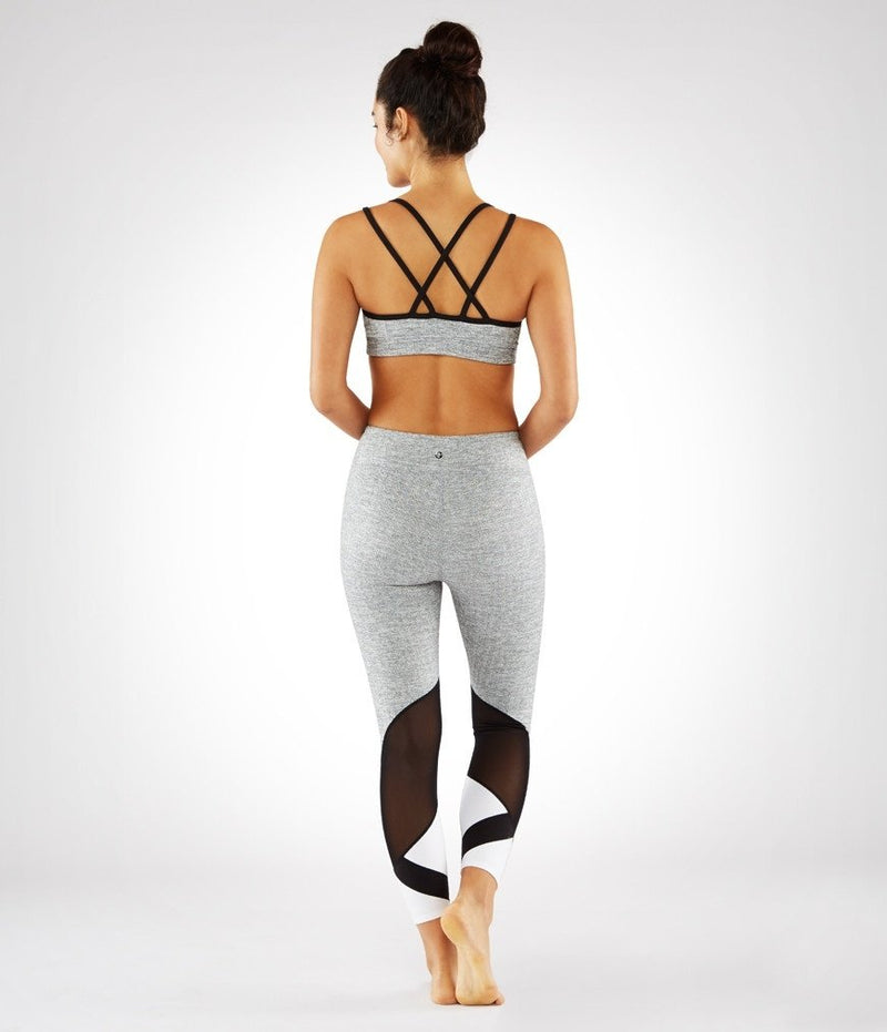 Final Sale!  Manduka Cross Strap Bra - Herringbone