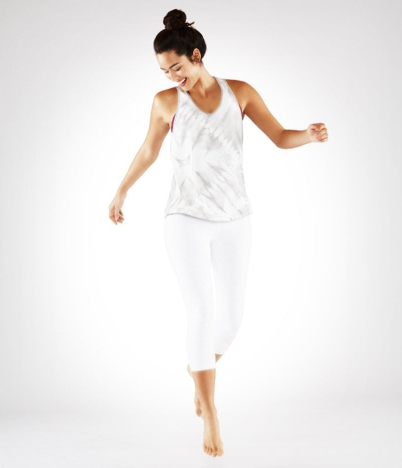Final Sale! Manduka Adorn Racerback Tank - Feather Grey Print