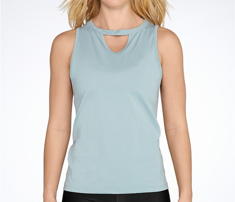 Super Deal! Onzie Hot Yoga Keyhole Tank Top 3043 Stone and Black