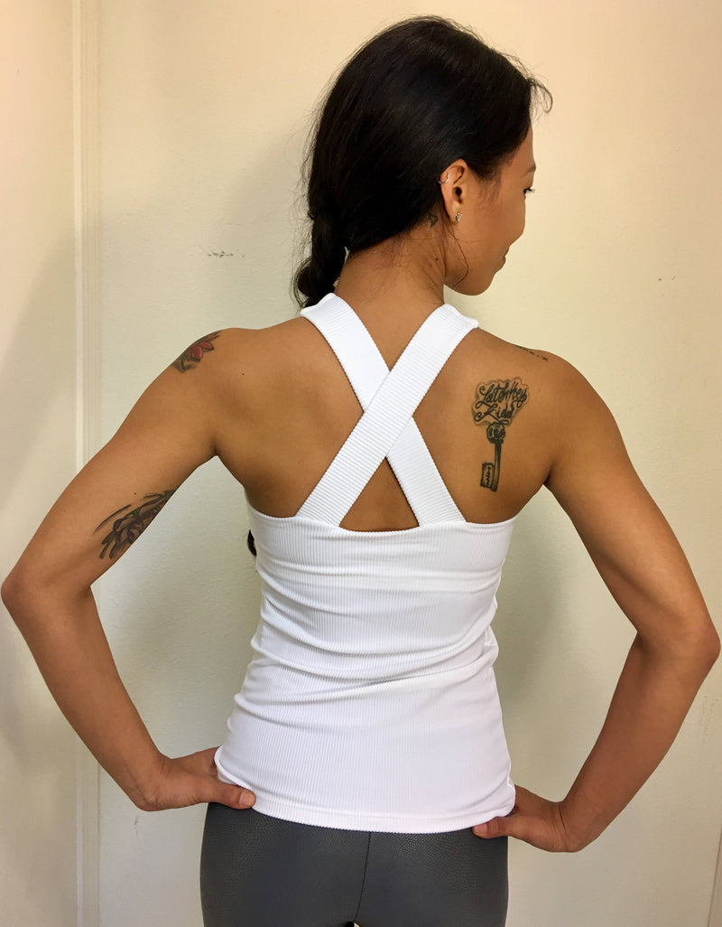 Final Sale! Onzie Hot Yoga  X Long Back Tank Top 3038 Ribbed