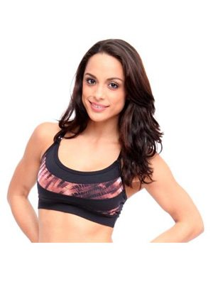 Final Sale Equilibrium Activewear Round it out Bra Top T405