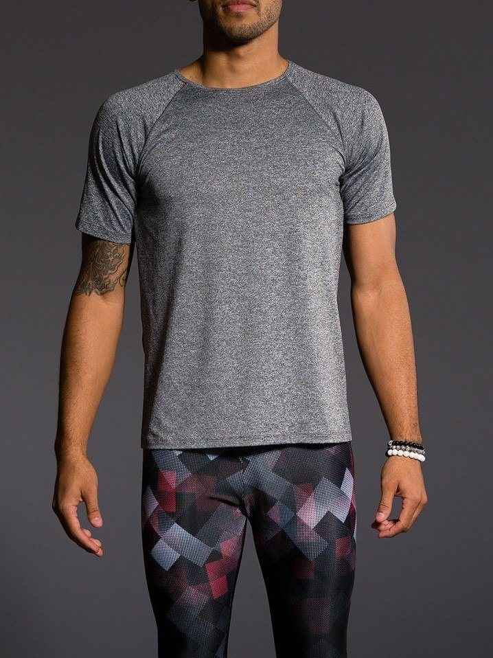 Final Sale! Onzie Hot Yoga Mens Raglan Short Sleeve top 701