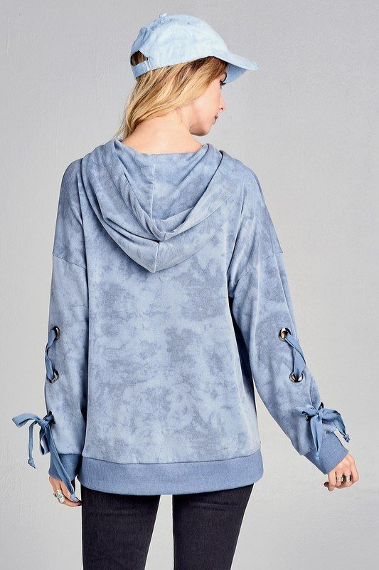 Final Sale! Oddi Mineral Wash Hoodie with Lace Up  IT20523