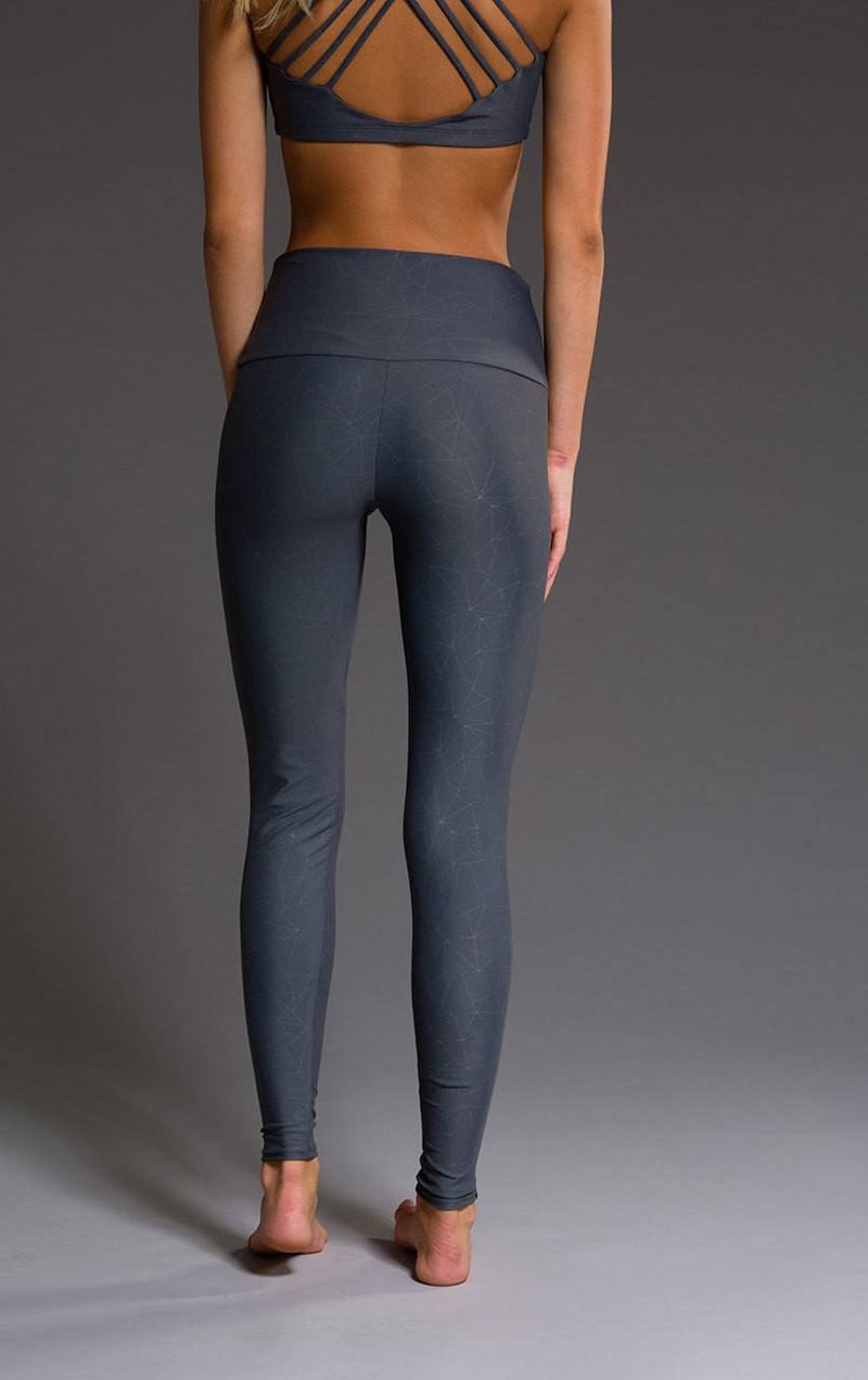 Onzie Hot Yoga High Rise Legging 228 Slate Geo