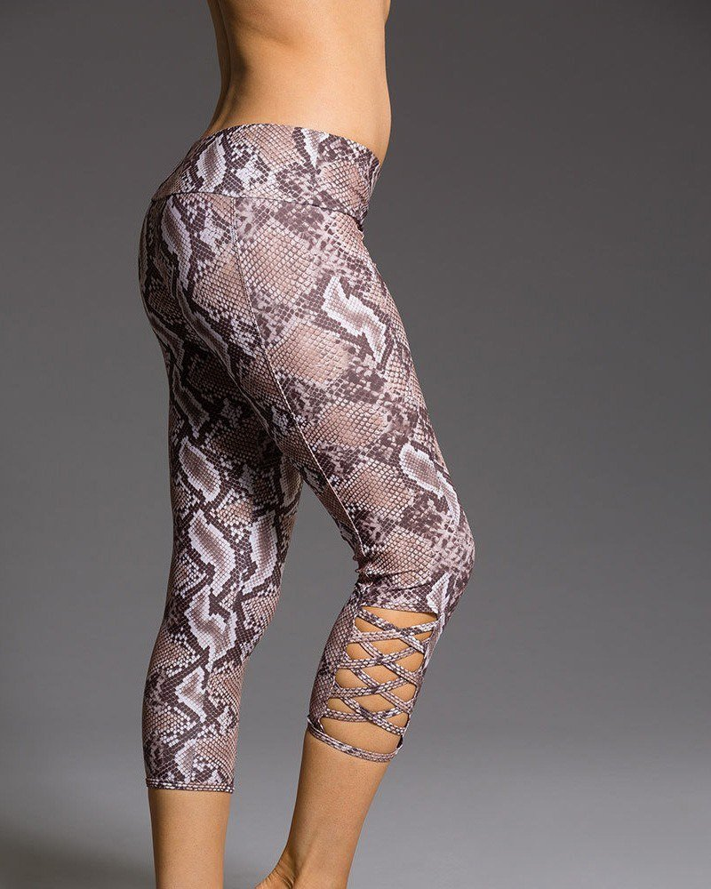 Onzie Hot Yoga Weave Capri 289 - Mamba - side view
