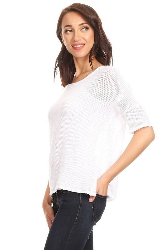 T-Party Oversized Fishnet Top TFSW42703