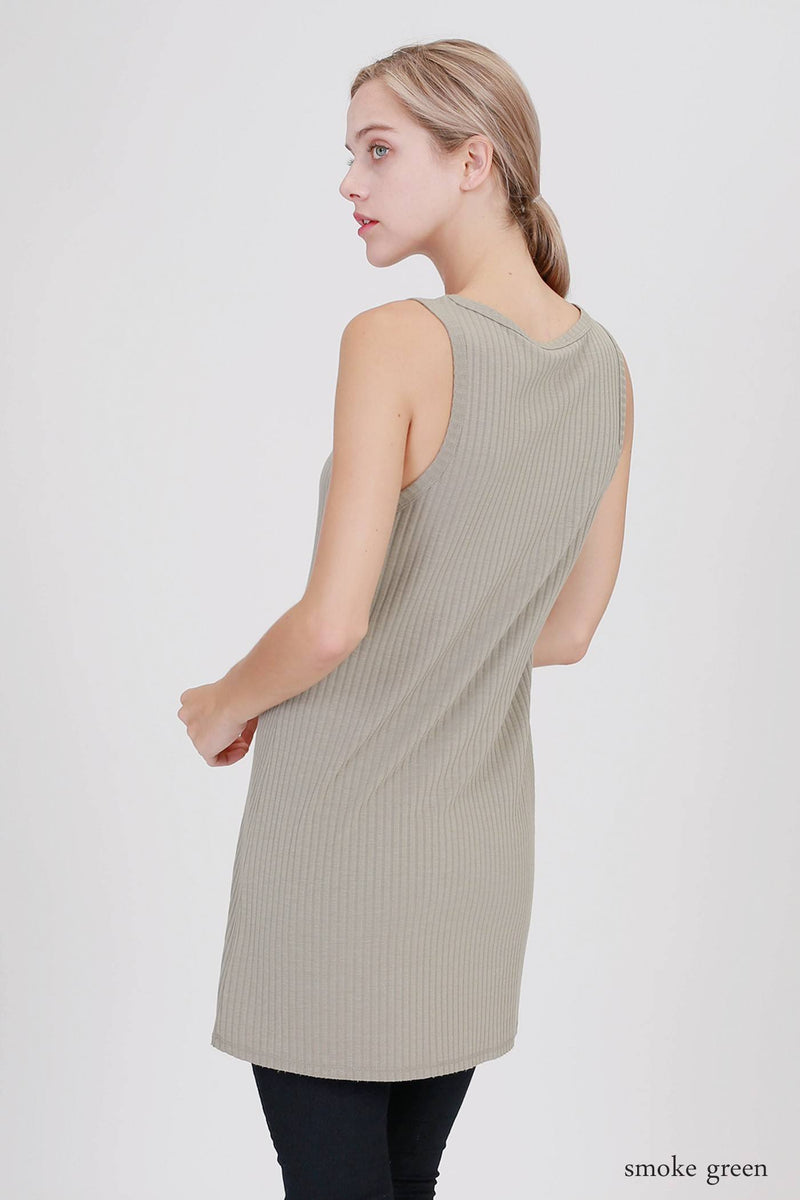 Final Sale Double Zero Ribbed Tunic D17H199