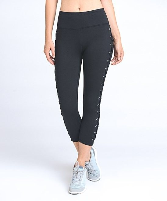 Mono B Activewear Lace Up Capri APH1627