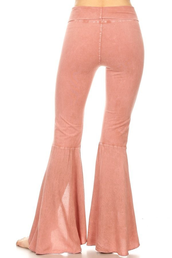 T-Party Flower Mineral Wash Tulip Pant CJ3111 Mauve