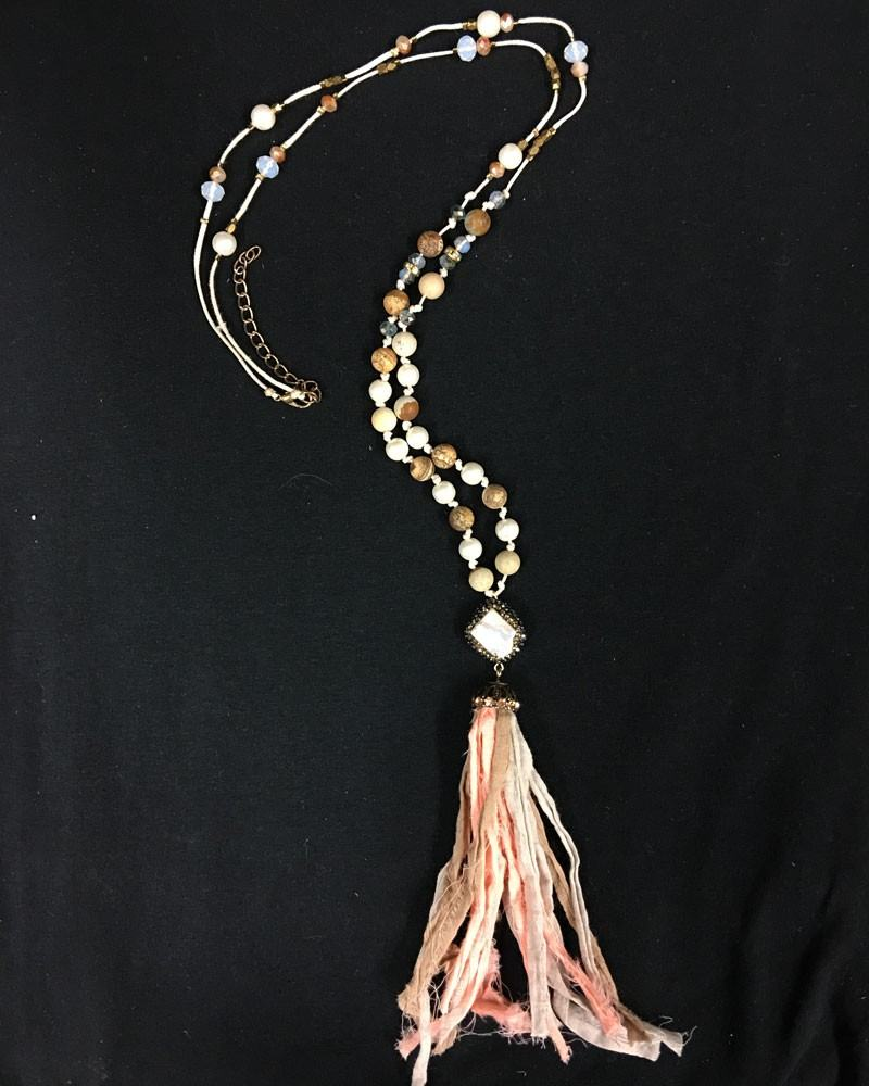 BoHo glam Silk Tassel Bohemian Necklace
