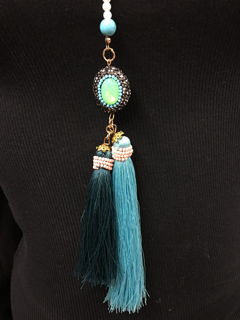 BoHo Chic Double Tassel Necklace