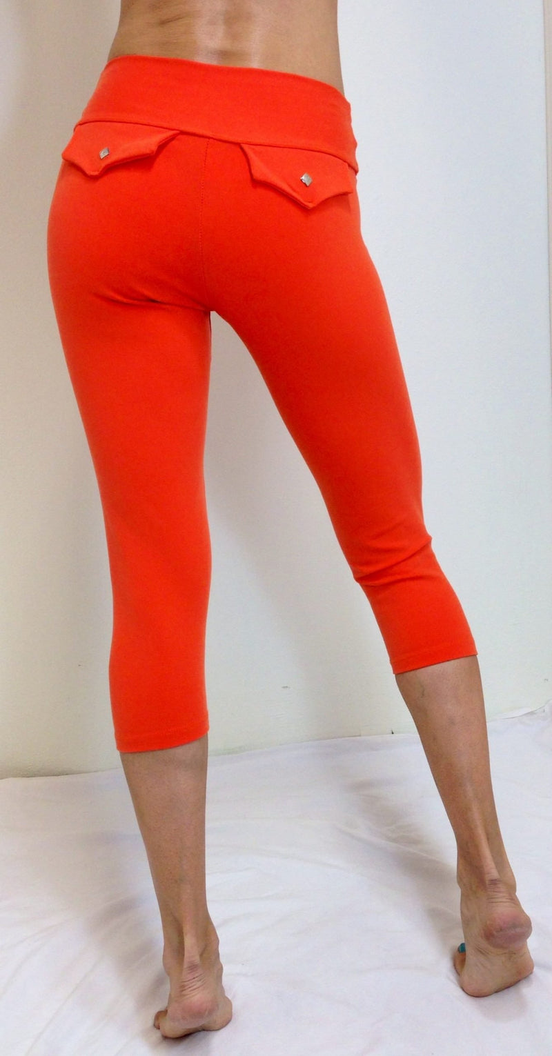Final Sale! Bia Brazil Activewear Faux Pocket Capri SL326
