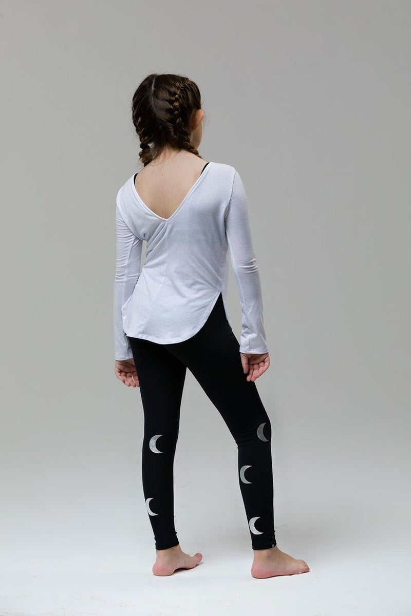 Youth Onzie Pranayama Top 8097 - Black - rear view
