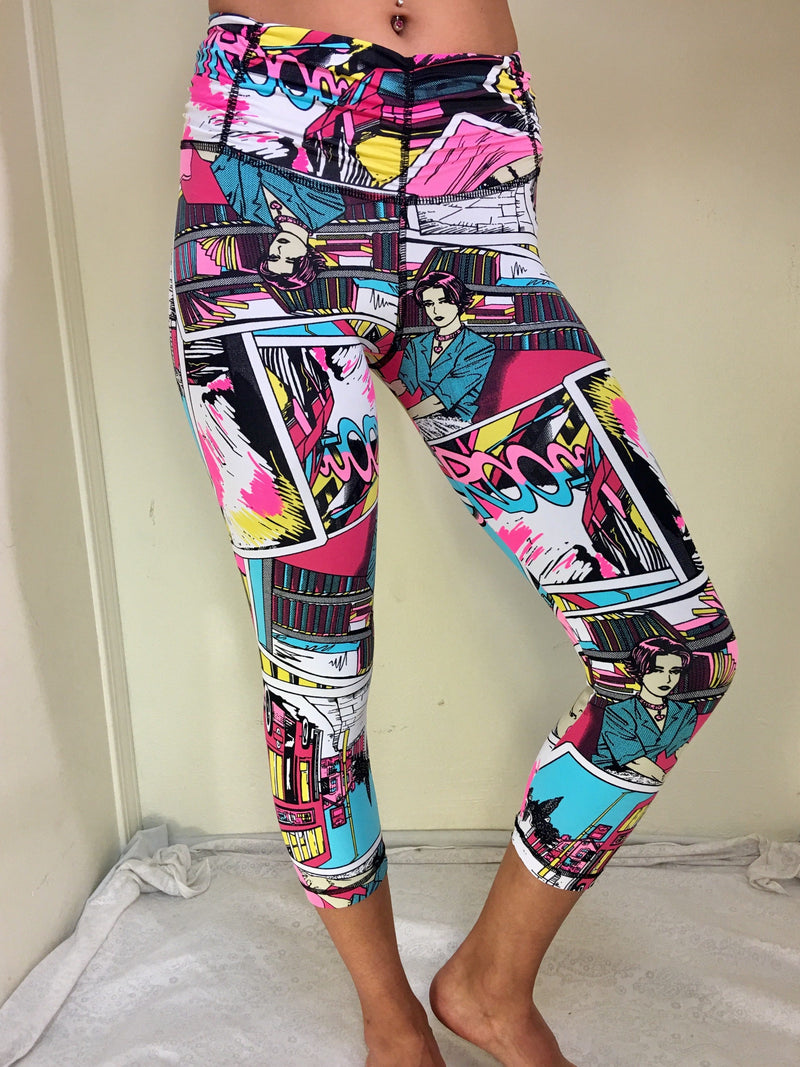 Cartoon Capri By Shape Up Fitnesswear