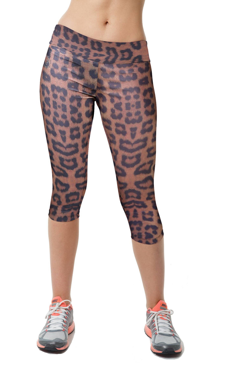 Final Sale! Bia Brazil Activewear Gold Leopard Capri SL4069