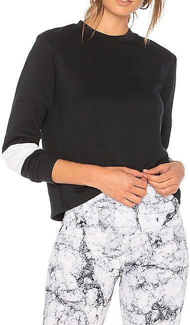 Final Sale! Onzie Hot Yoga Blocked Crew Neck Sweatshirt 3072