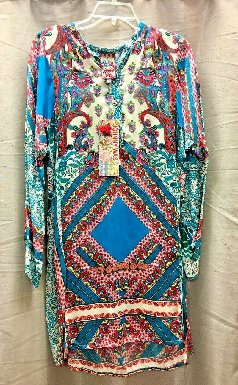 Johnny Was Scarf Printed Rayon Tunic