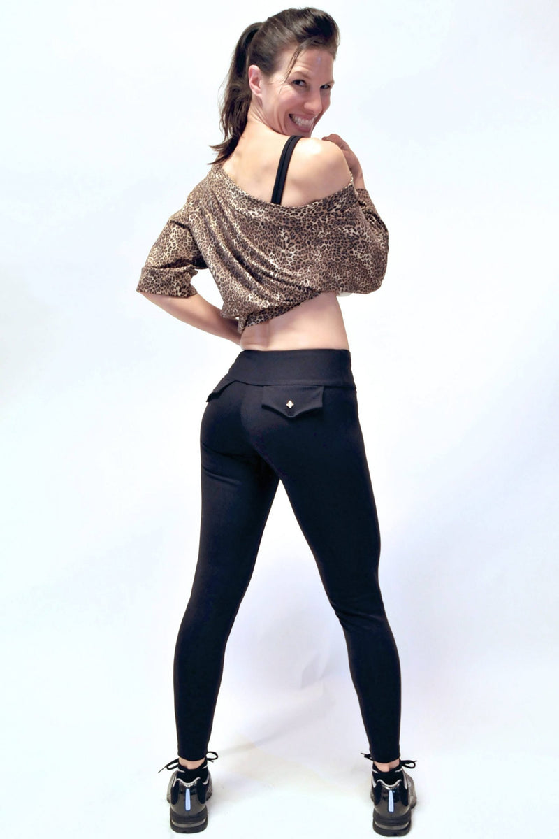 Bia Brazil Activewear Faux Pocket Legging LE326 Black