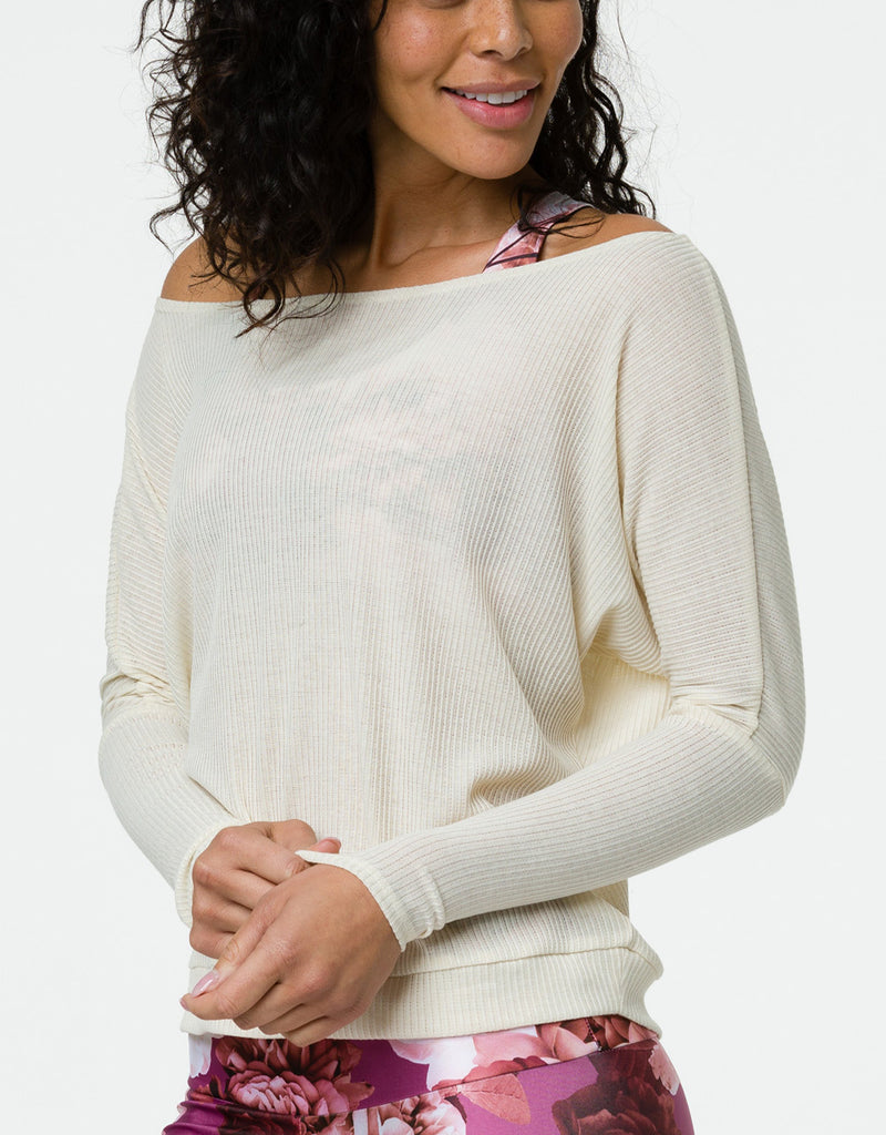 Onzie Off the Shoulder Ribbed Top 3748