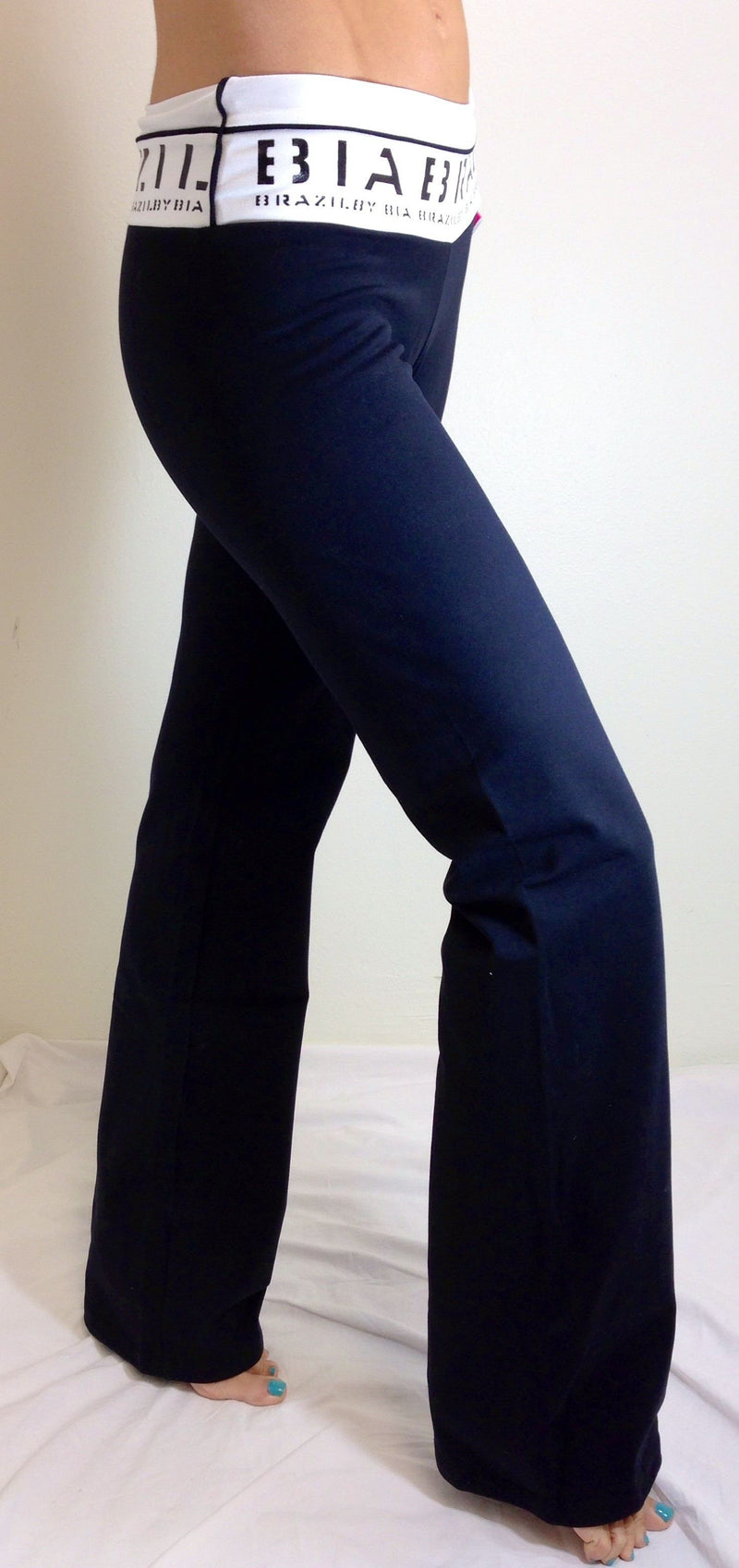 Bia Brazil Activewear Logo Banded Bootcut Pant PA112